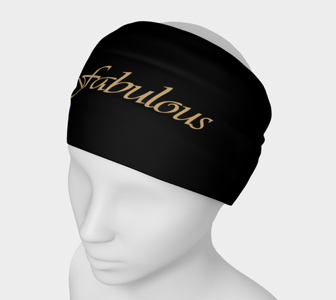 """Fabulous"" Black Headband"