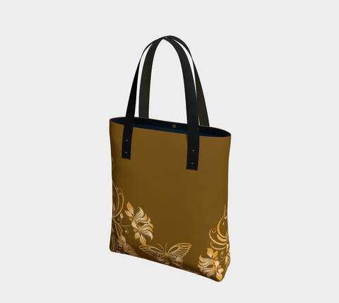 Brown/Gold Butterfly Chic Tote