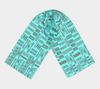 Turquoise  African Motif Long Scarf