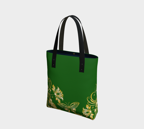 Forest/Gold Butterfly Chic Tote