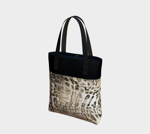 Black/Khaki Savanna Chic Tote Bag