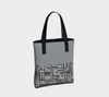 Dove Gray & Black  African Motif Chic Tote