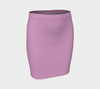 Luxe Pink Fitted Skirt