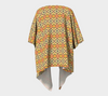Golden Orange African Motif Draped Kimono