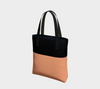 Peachy Pink & Black Le Chic Tote