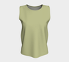 Sage Solid Color Loose Fit Tank Top