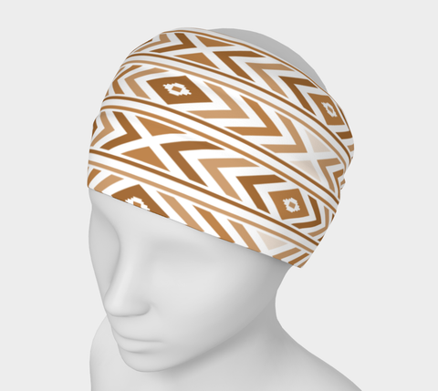 Tan Chevron Headband