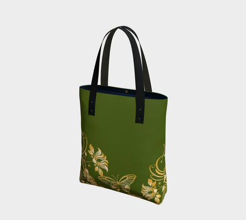 Moss/Gold Butterfly Chic Tote
