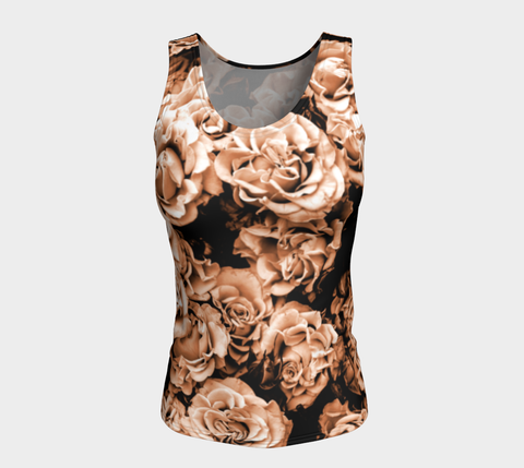 Vintage Roses Fitted Tank Top