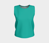 Soft Teal Solid Color Loose Fit Tank Top