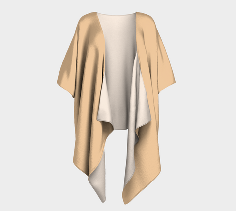 Tan Big Cats Draped Kimono
