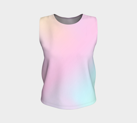 Rainbow Pastels #2 Loose Fit Tank Top