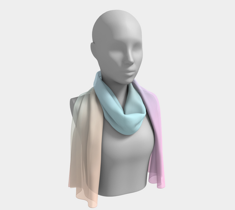 Rainbow Pastels 01 Long Scarf