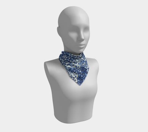 Navy Big Cats Square Scarf/Shawl