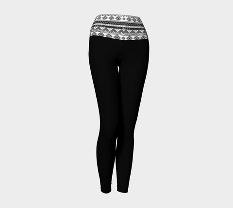 Black/Chevron Yoga Leggings
