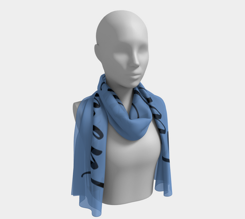 "Blue ""Live in the Moment"" Inspirations Long Scarf"