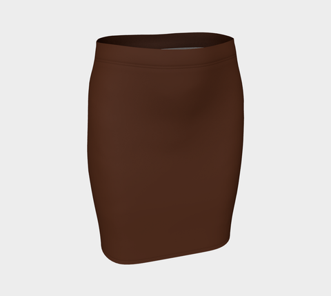 Chocolate Zambia Fitted Skirt