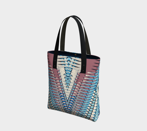Misty Blue & Plum Shianna Chic Tote