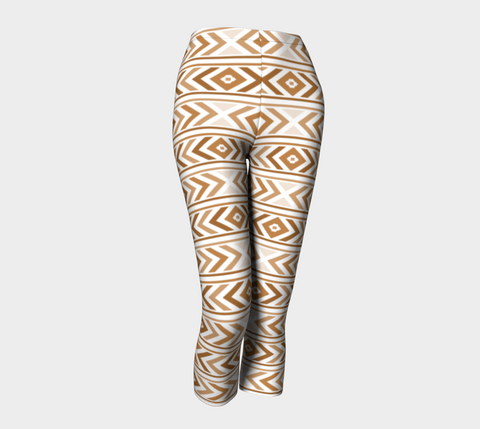 Tan Chevron Capris