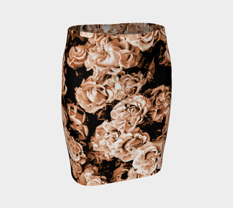 Vintage Roses Fitted Skirt