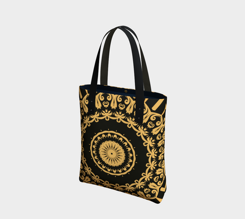 Gold & Black Madrid Chic Tote