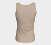 Khaki Fitted Tank Top (Long)