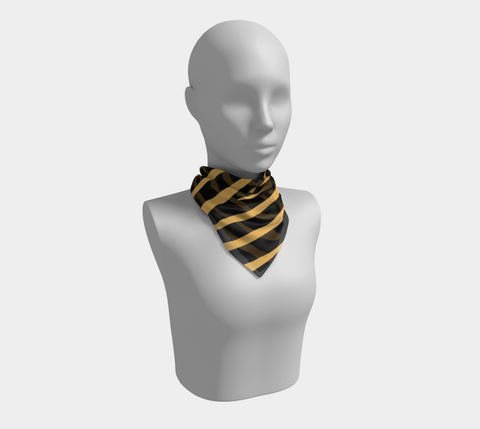 Gold/Black Erika Square Scarf/Shawl