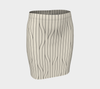Chamois Stripes Savanna Fitted Skirt