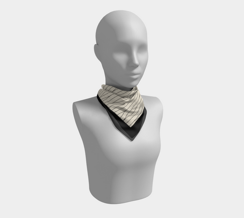 Black Savanna Neutral Square Scarf