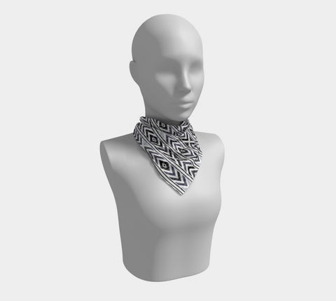 Black Chevron Square Scarf