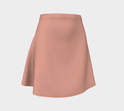 Coral Pink Roses Flare Skirt