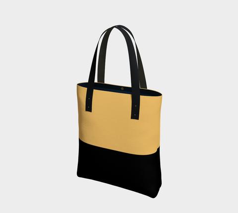 Inca Gold & Black Chic Tote