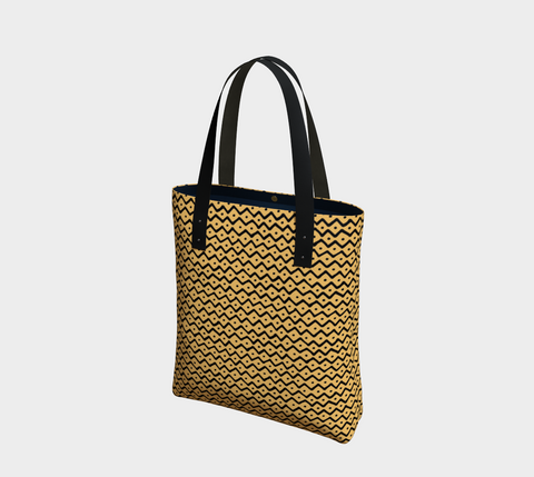 Gold African Motif Chic Tote