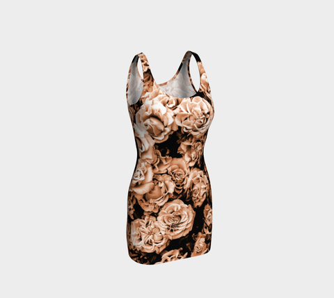 Vintage Roses Bodycon Fitted Dress
