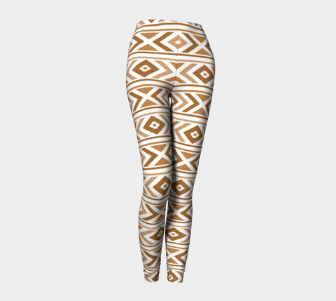 Tan Chevron Leggings