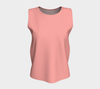 Candlelight Peach Hollywood Glam Relaxed Fit Tank Top