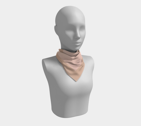 Soft Peach & Blush Pink Square Scarf/Shawl