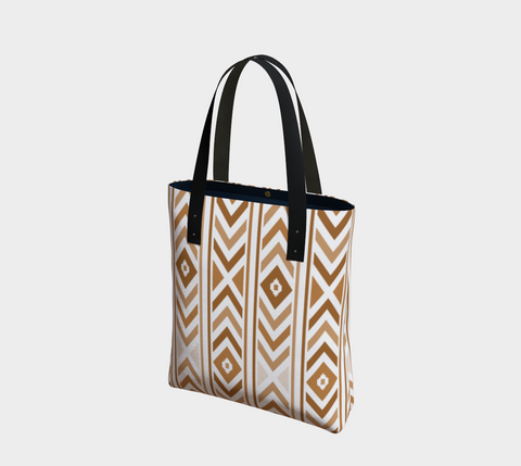 Tan Chevron Chic Tote Bag