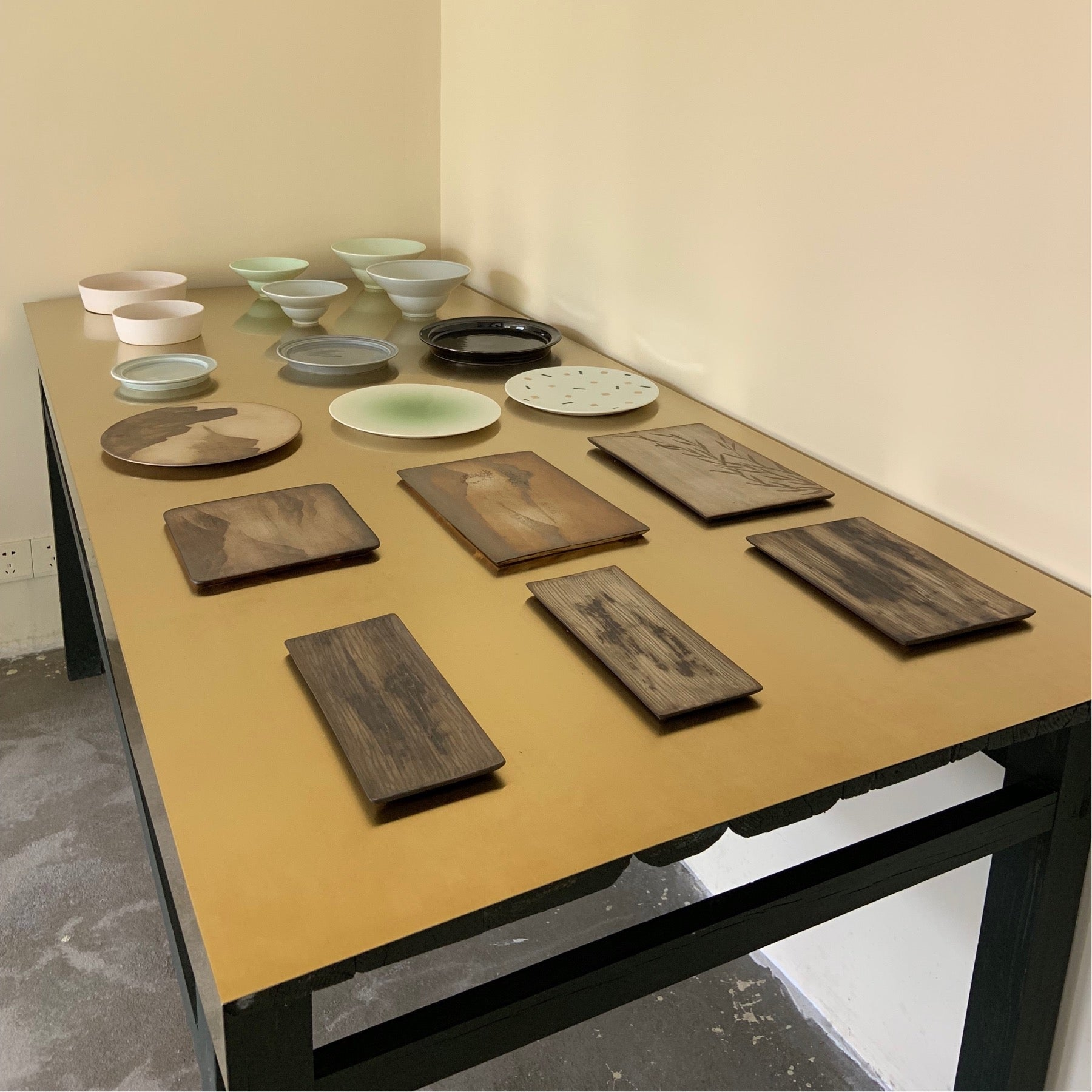 collection of tea trays teatrays from Jingdezhen