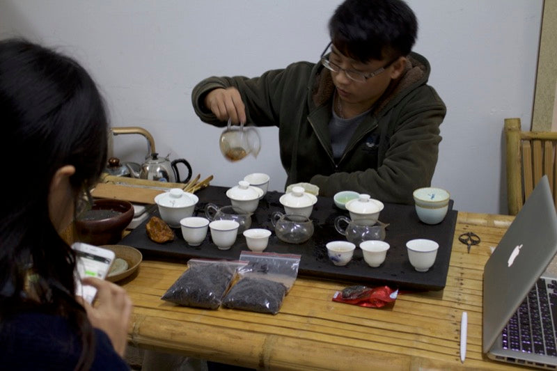 Tea tasting of Bai Ya Qi Lan