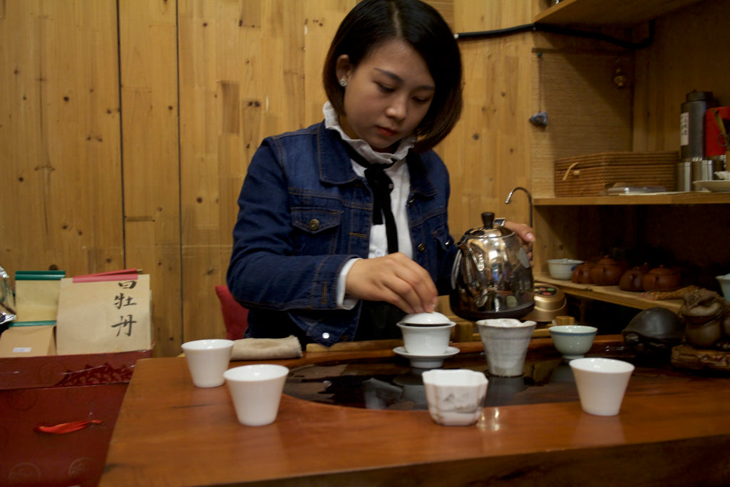 tea tasting in Shanghai
