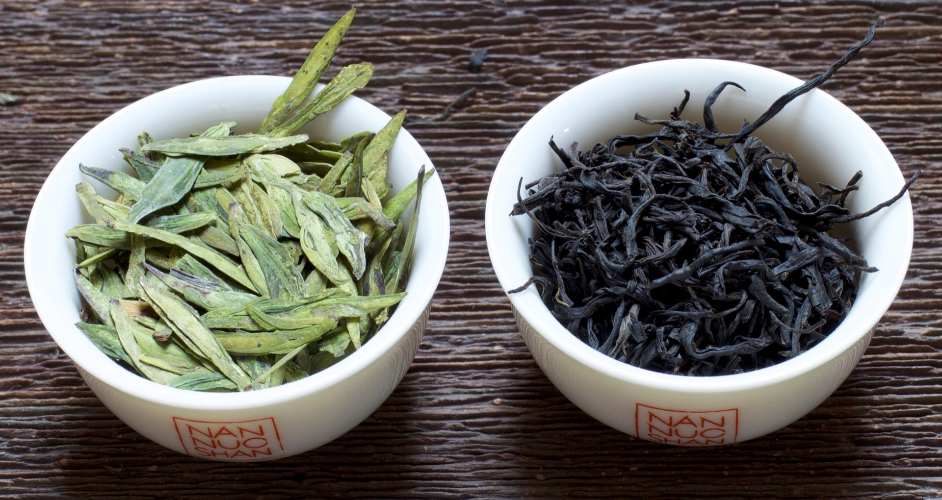 same green tea and black tea