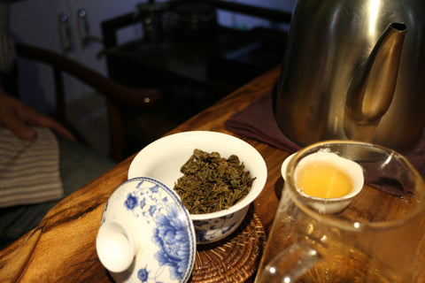 Steeped Yunnan green tea