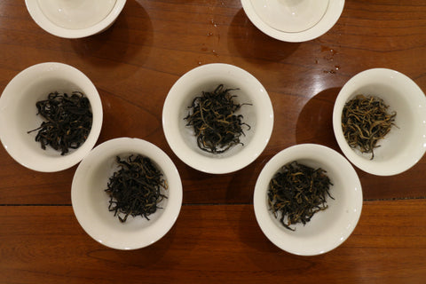 Black tea in gaiwan