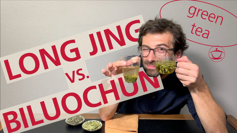 YouTube video – LONG JING vs. BILUOCHUN: Which is the best green tea for you?