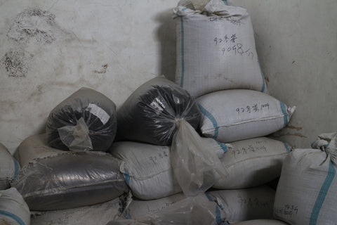 Sacks of vintage Tieguanyin