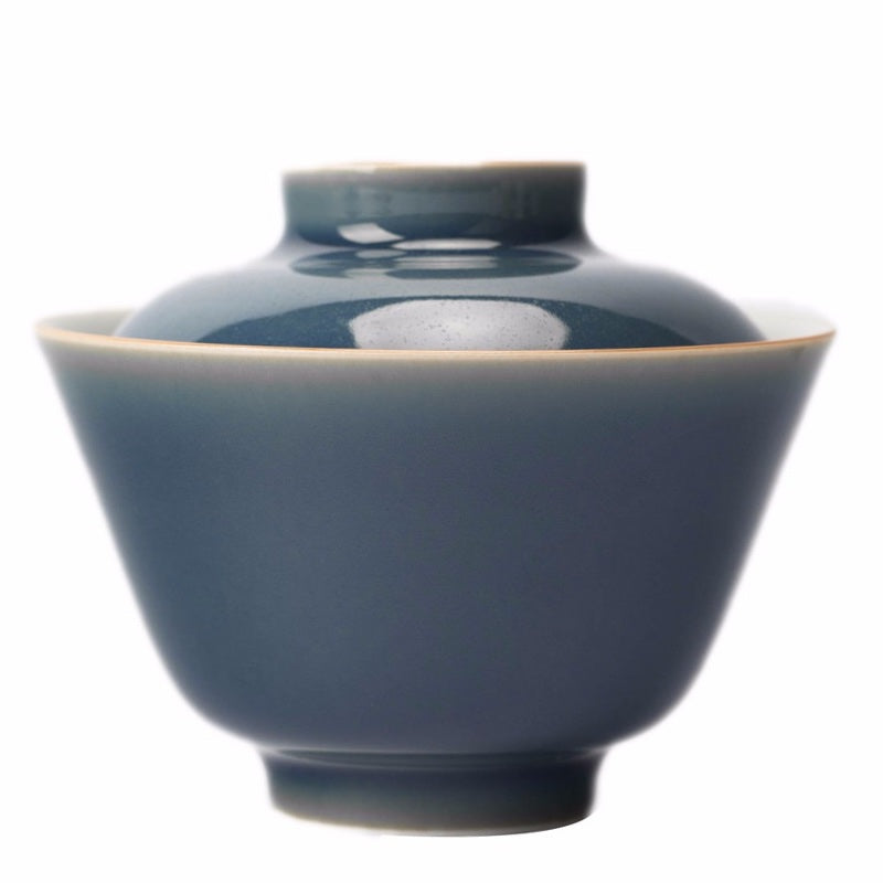blue jingdezhen gaiwan large button