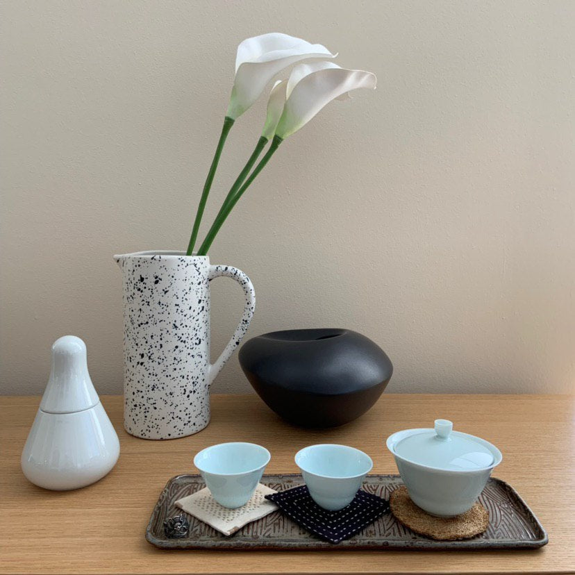 celadon cloud gaiwan from jingdezhen