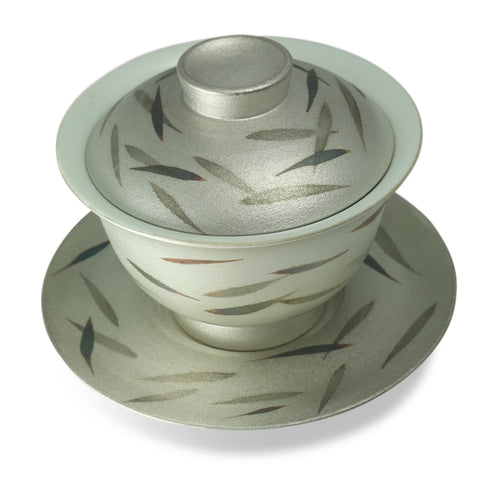 Silver Willow Leaves Gaiwan