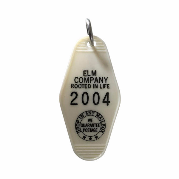 Elm Company Key Tag | White